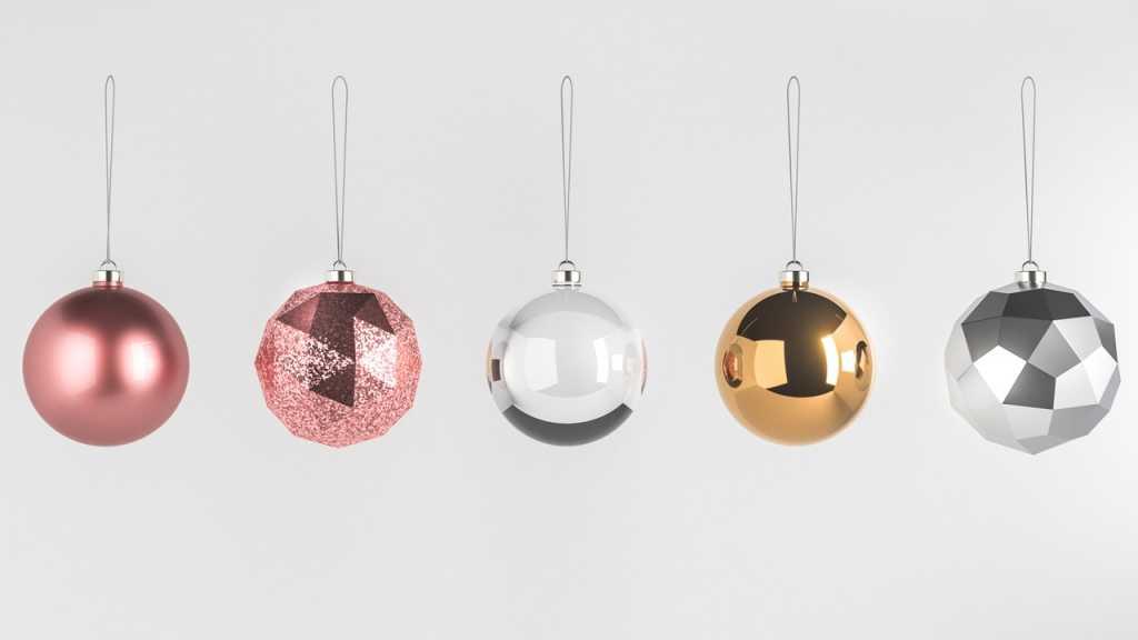Dekokugeln in Gold, Silber oder Rosé  verleihen jeder Wohnung Glamour.