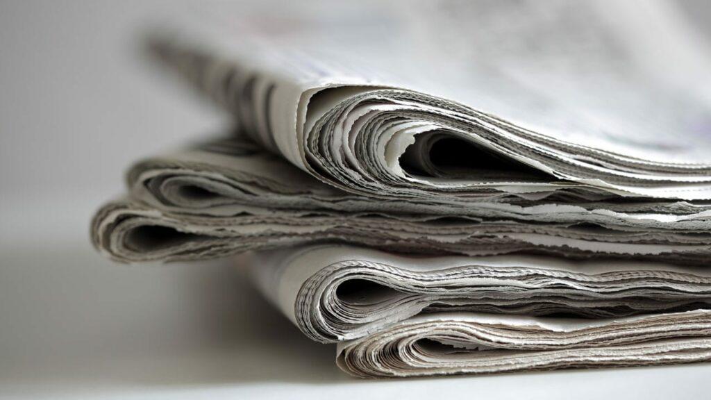 Zeitung für die Biotonne